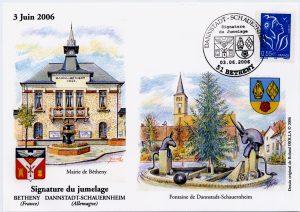 Zur Feier der Partnerschaft brachte die französische Post einen Sonderstempel heraus